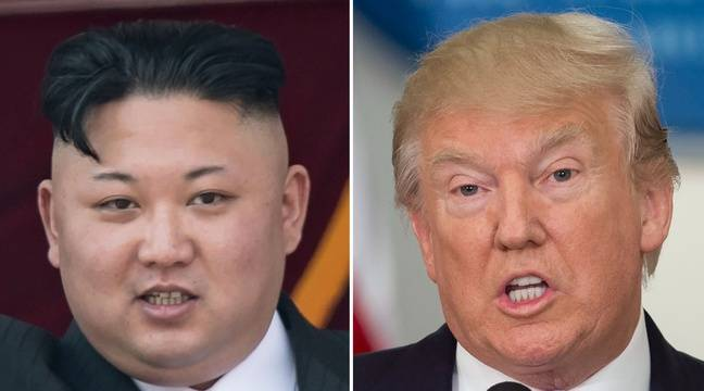 Kim Jong-Un et Donald Trump. Montage photo.AFP PHOTO / SAUL LOEB AND Ed JONES – AFP