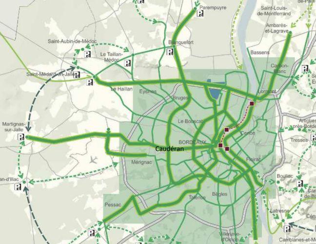 Une première carte des autoroutes à vélo voulus par LREM.