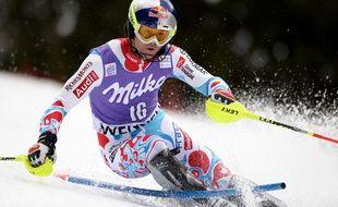 Alexis Pinturault lors du slalom de Wengen (Suisse), le 19 janvier 2014.