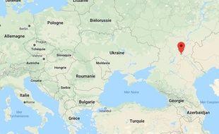 Localisation de la région de Volgograd en Russie.