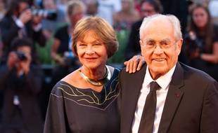 Macha Meril and Michel Legrand attends La Rancon De La Gloire Premiere during the 71th Venice Film Festival. Venice, Italia - 28/08/2014/COLLET_113505/Credit:COLLET GUILLAUME/SIPA/1408291219
