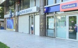 Grèce: les rideaux de fer baissés sur les banques