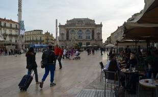 La place de la Comédie à Montpellier