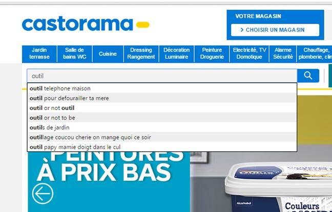 Le moteur de recherche de Castorama piraté