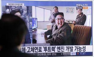Une photographie de Kim Jong-un diffusée à la télévision sud-coréenne, le 19 mars 2017.