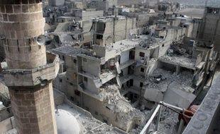 Des bâtiments détruits par des raids aériens à Alep, dans le nord de la Syrie, le 19 janvier 2014