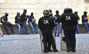 Des forces de l'ordre à Nantes, le 3 août 2019.