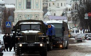 Des policiers antiémeutes ukrainiens à Kiev le 9 décembre 2013.