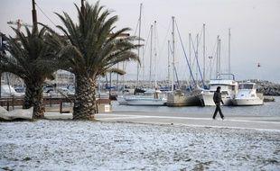 De la neige à Marseille en février 2012.