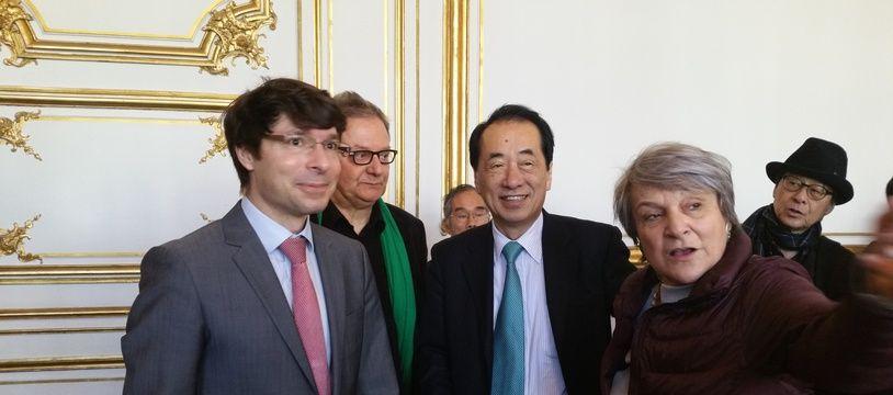 L'ancien Premier ministre du Japon, Naoto Kan, à Strasbourg.