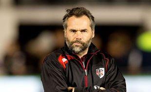 Ugo Mola, l'entraîneur principal du Stade Toulousain, en novembre sur la pelouse des Saracens.