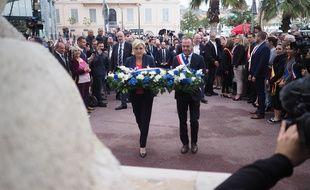 Marine Le Pen et Steeve Bribois, le 1er mai 2018 à Cannes
