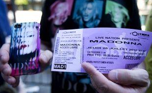 Madonna s'est produite à L'Olympia en 2012.