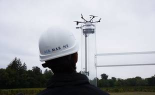 La société Air Marine effectue des tests d'atterrissage de précision pour son projet de livraison par drones.