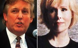 Donald Trump en 1996 et une photo non datée de la journaliste E. Jean Carroll.