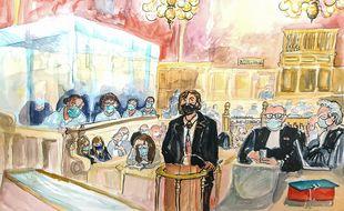Mark Moogalian à la barre de la cour d'assises spéciale, jeudi 19 novembre 2020