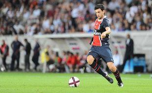 Le milieu argentin Javier Pastore lors du match UEFA Europa League au Parc des Princes à Paris, le 28 août 2011.