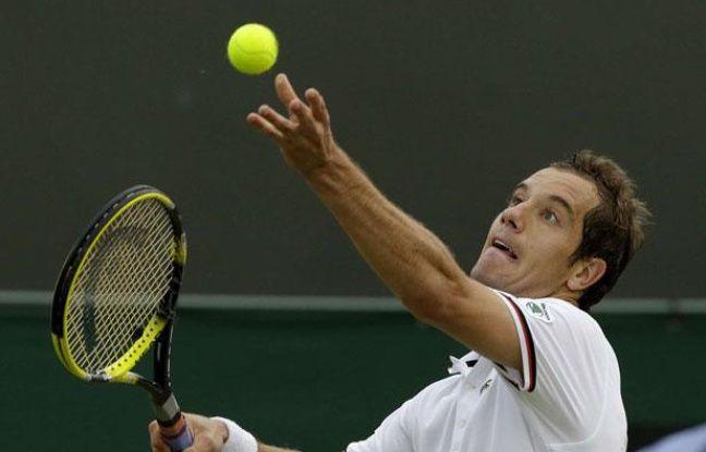 Richard Gasquet contre Nicolas Almagro, à Wimbledon, le 27 juin 2012.