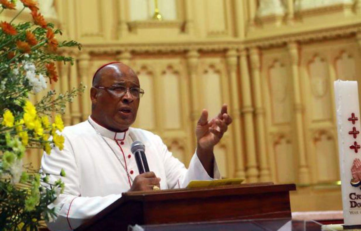 Le cardinal sud-africain Wilfrid Fox Napier, à Durban, le 10 février 2013. – RAJESH JANTILAL / AFP