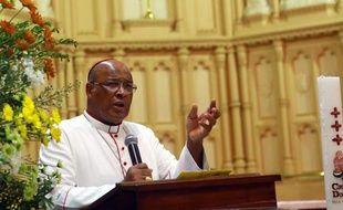 Le cardinal sud-africain Wilfrid Fox Napier, à Durban, le 10 février 2013.