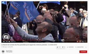 Des policiers ont manifesté à Paris le 2 octobre.