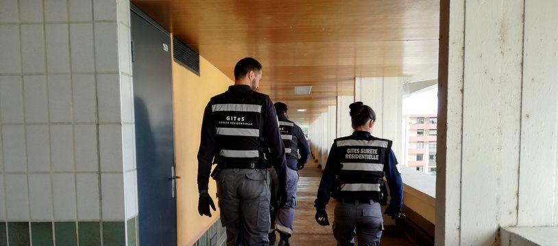 Les membres du GITeS, le groupement interquartiers de tranquillité et de sûreté intervient sur une trentaine de résidences, la majorité au Mirail.