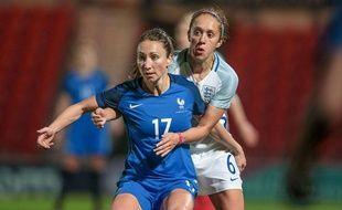 Gaëtane Thiney, le 21 octobre 2016 contre l'Angleterre.