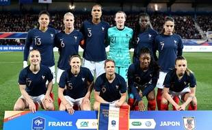 L'équipe de France féminine en avril 2019