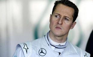 Michael Schumacher le 3 février 2010 alors qu'il était encore pilote de Formule 1