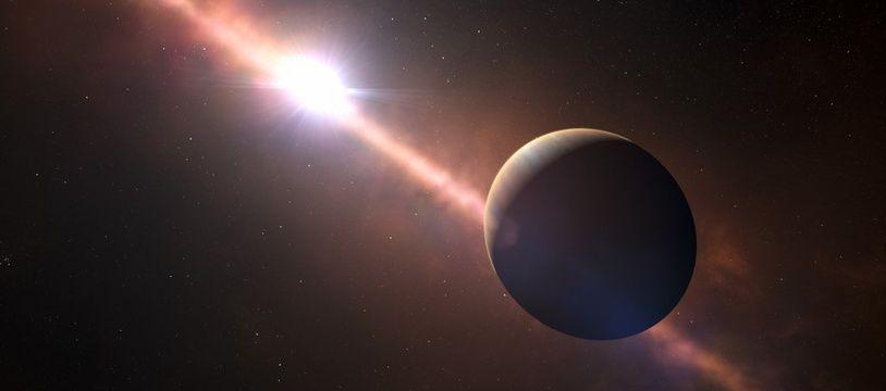 (Illustration) En 2014, des travaux avaient révélés que la première planète découverte, Beta Pictoris B,  orbite autour de son étoile hôte à une distance équivalant à huit fois la distance Terre-Soleil.