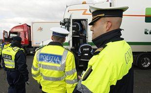 Rekkem, le 21 fevrier 2013. Operations de controles routiers dans le cadre de la cooperation transfrontaliere franco-belge