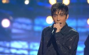Grégory Lemarchal dans l'émission «La chanson de l'année», sur TF1, en 2005.