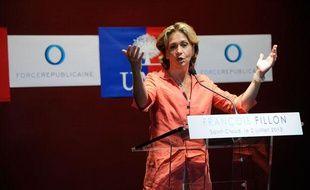 La députée UMP Valérie Pécresse, le 2 juillet 2013 lors d'un meeting de François Fillon à Saint-Cloud.
