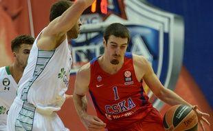 Nando De Colo sous le maillot du CSKA Moscou, le 11 décembre 2015.