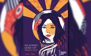 L'affiche de la Coupe du monde féminine a été créée par l'agence niçoise Comback.