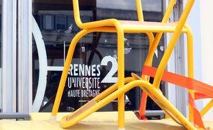Le campus bloqué de l'université Rennes-II à Villejean. Ici le 26 avril 2018.