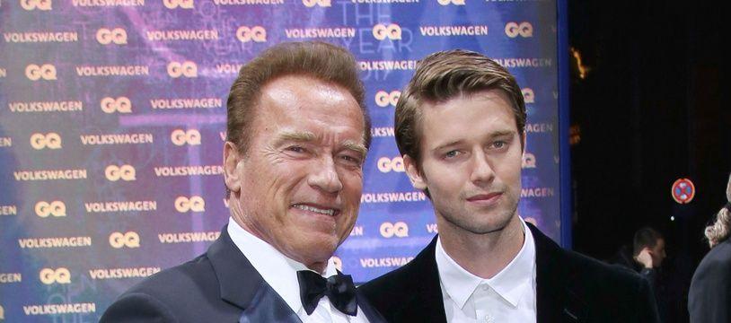 L'acteur et ancien gouverneur de Californie, Arnold Schwarzenegger, et son fils, Patrick