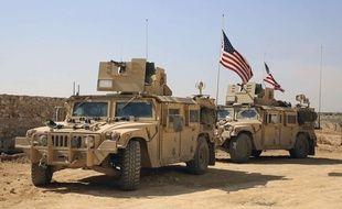 Les troupes américaines dans la région d'Alep en Syrie.