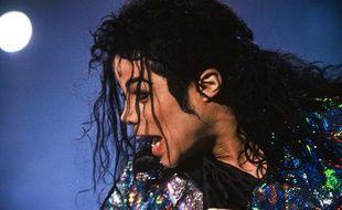 Michael Jackson en concert à Paris, en 1992.