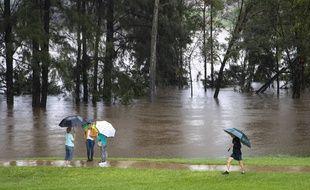 Les inondations à Sydney le 22 mars 2021.