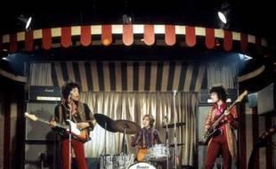 Les trois membres de The Jimi Hendrix Experience, à Londres, en 1967