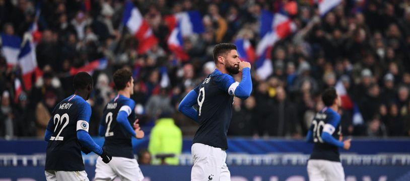 Face à l'Uruguay, Giroud a marqué le dernier but de l'année pour les Bleus.