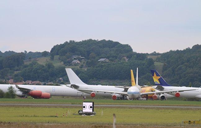 Le stimulus en cours de diffusion sur l'aéroport de Lourdes-Tarbes-Pyrénées.