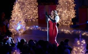 Mariah Carey au Rockefeller Center Christmas Tree Lighting en 2013.
