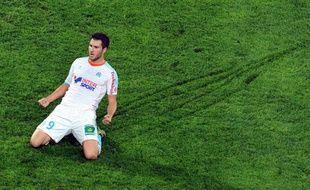 André-Pierre Gignac a inscrit un doublé face à Reims dimanche 6 janvier, au stade Vélodrome.