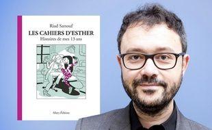 Riad Sattouf et la couverture du 4e tome des « Cahiers d'Esther »