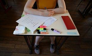 Une lycéenne au moment de passer son bac (image d'illustration).