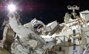 Sunita Williams, l'une des deux astronautes de la Nasa actuellement dans l'espace, le 5 septembre 2012