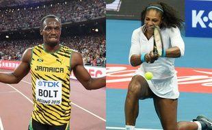 Le Jamaïcain Usain Bolt et l'Américaine Serena Williams ont été sacrés Champions des champions 2015 Monde par «L'Equipe».