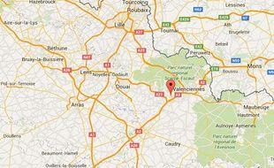 La ville de Denain, près de Valenciennes, dans le Nord.
